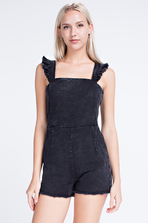 Can't Say No Denim Romper