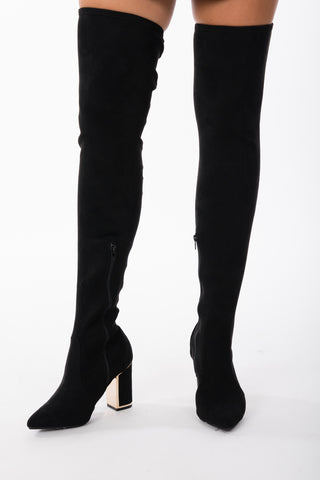 Thigh High Suede Boots