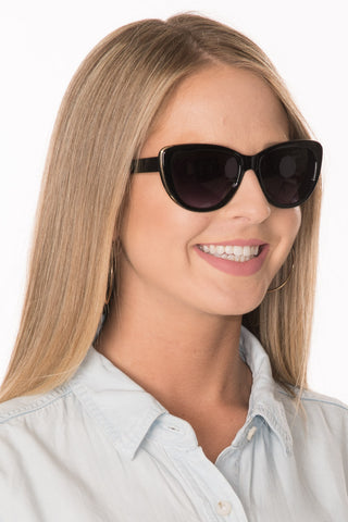 Cat Eye Sunglasses - Black