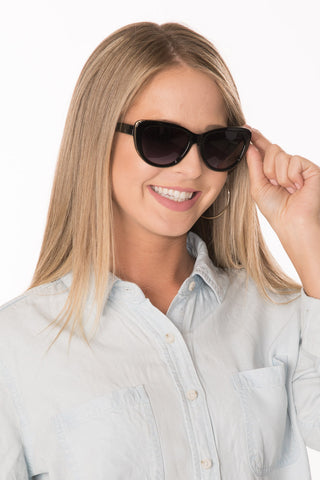 Cat Eye Sunglasses - Navy