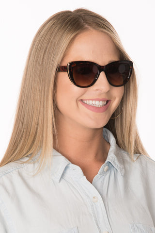 Cat Eye Sunglasses - Tortoise