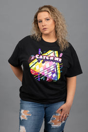 Catch Me If You Can Graphic Tee - Curvy