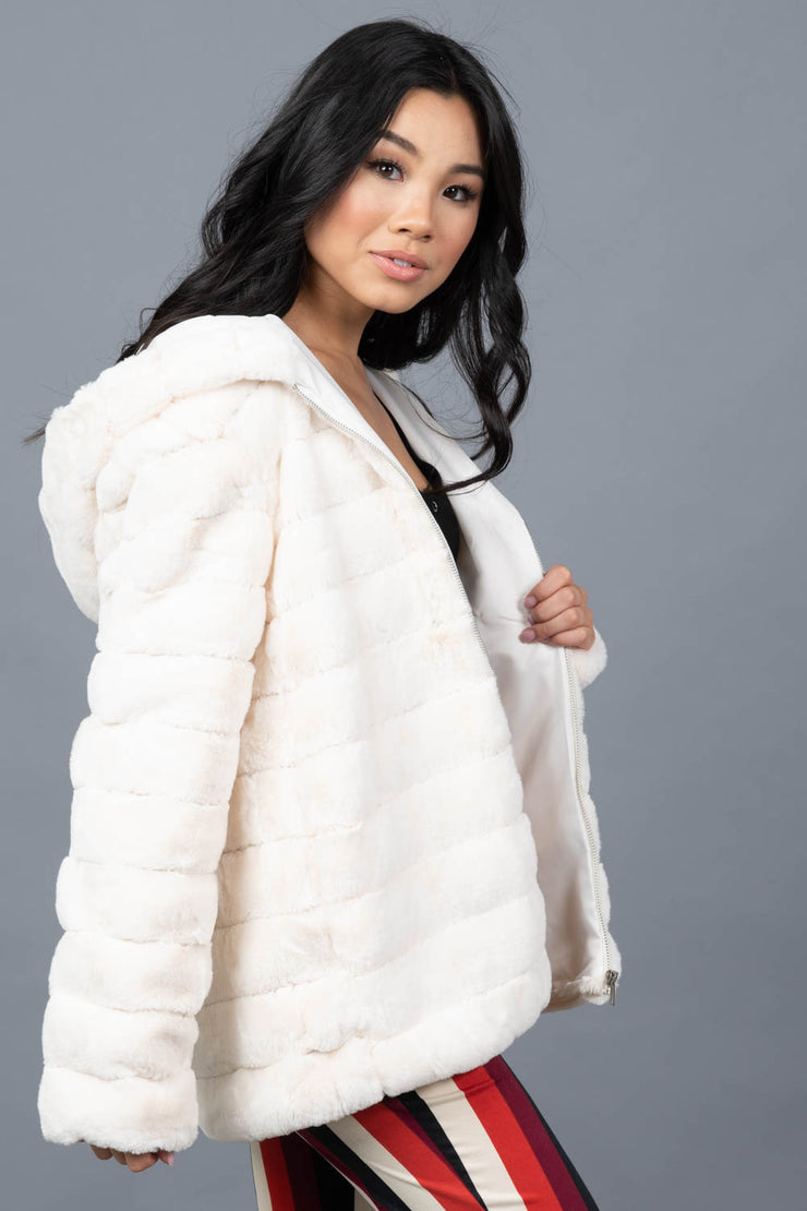 Making Headlines Faux Fur Jacket
