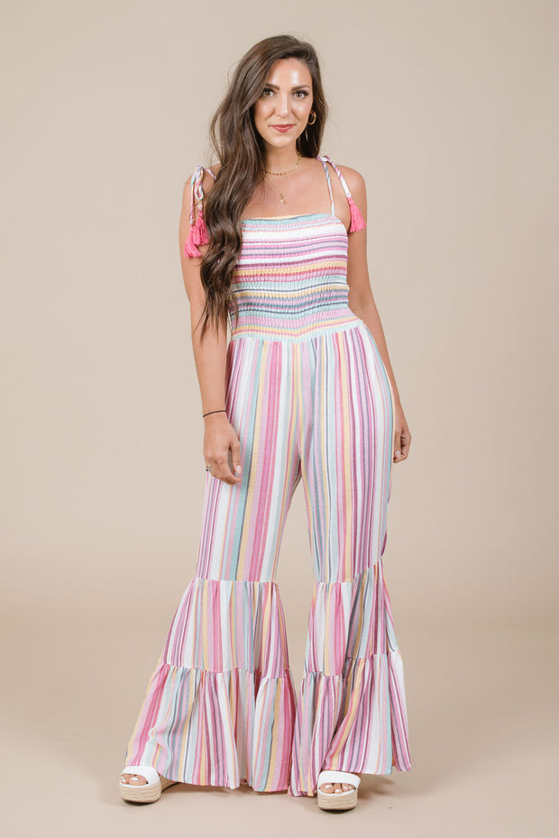 Straight Out Of Cabo Striped Jumpsuit