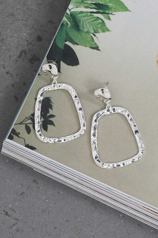 Drop The Doubt Earrings Silver
