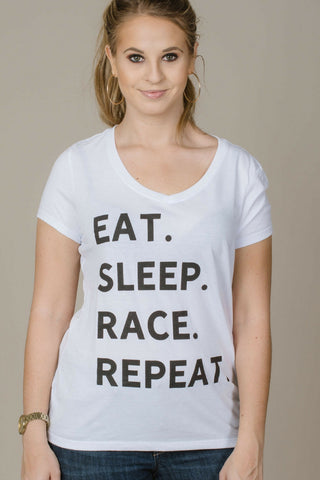 Eat. Sleep. Race. Repeat. Tee