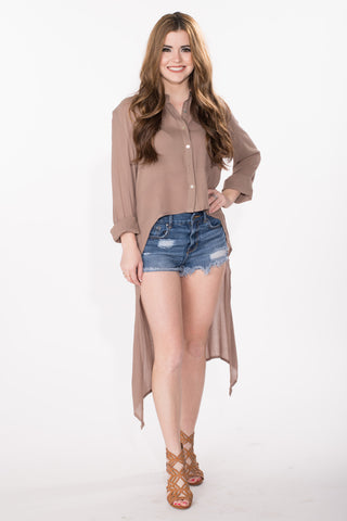 Hi-Lo Button Up Top