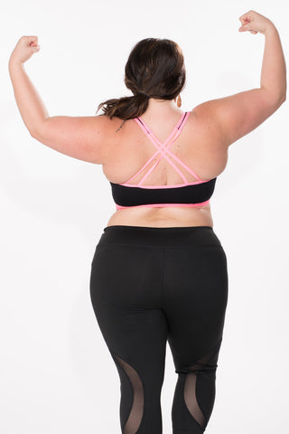 Cross-Back Sports Bra - Plus