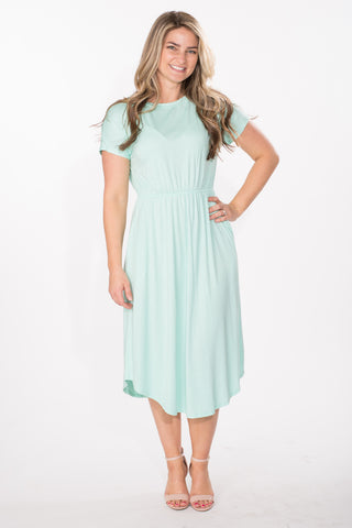 Cinch Waist Midi Dress