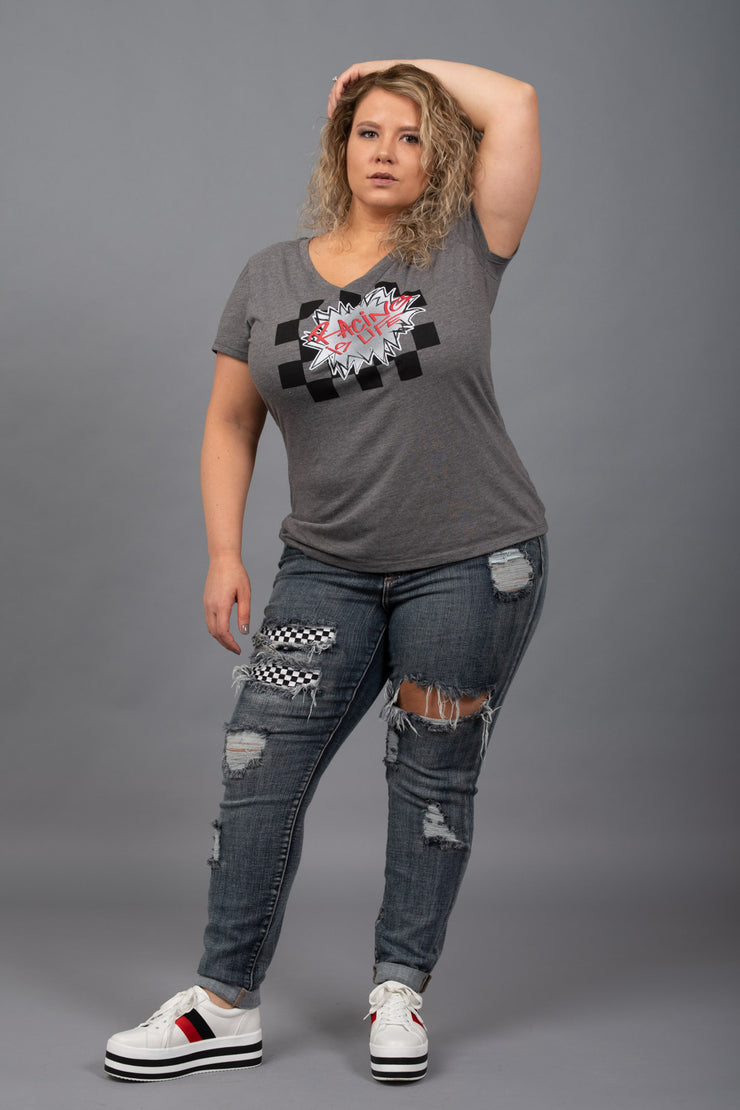 Get Rowdy Distressed Jeans - Curvy