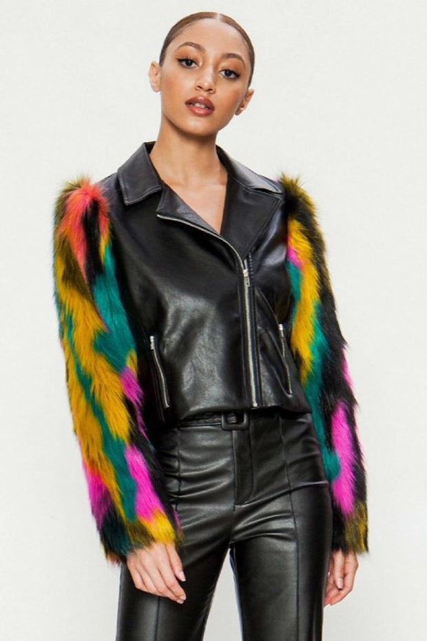 Funky Faux Fur Jacket