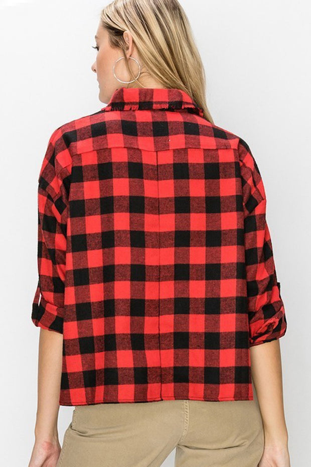 Buffalo Plaid Cropped Shirt