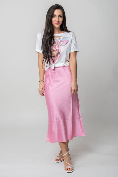 Barbie Satin Midi Skirt