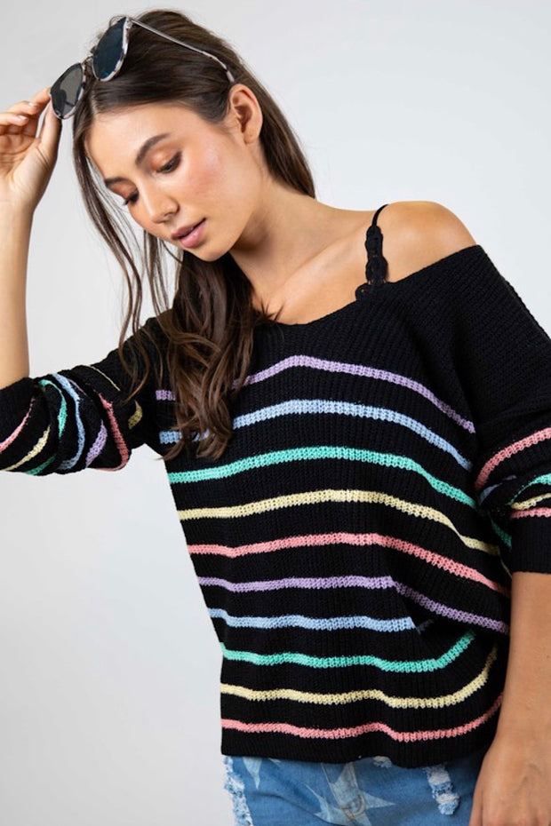 Cozy in Stripes Sweater