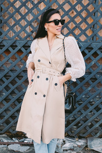 Eiffel Tower Trench Coat