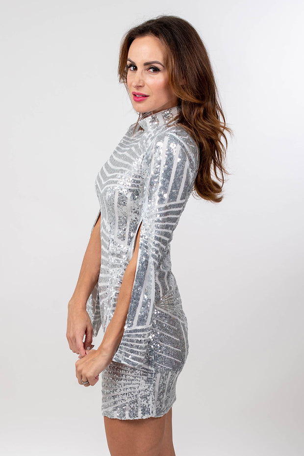 So Sparkly Silver Dress