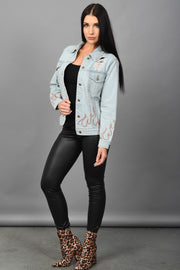 Ignite A Fire Denim Jacket