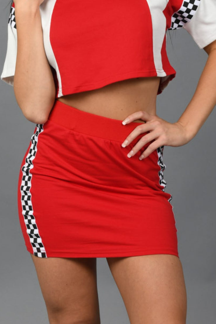 In The Fast Lane Skirt