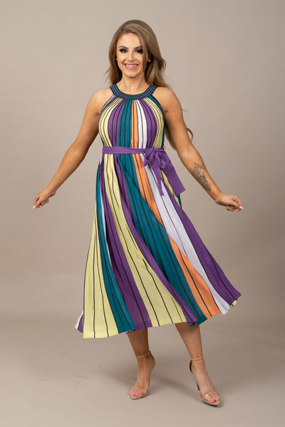 Stay In Line Striped Maxi Dress