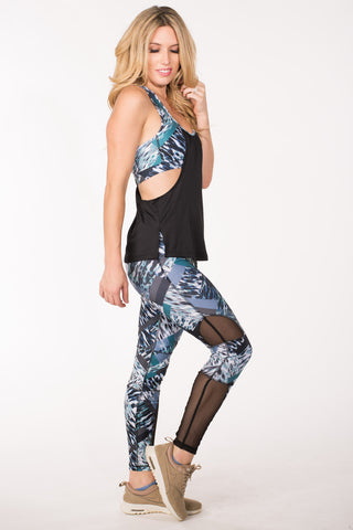 Multi Print Mesh Leggings
