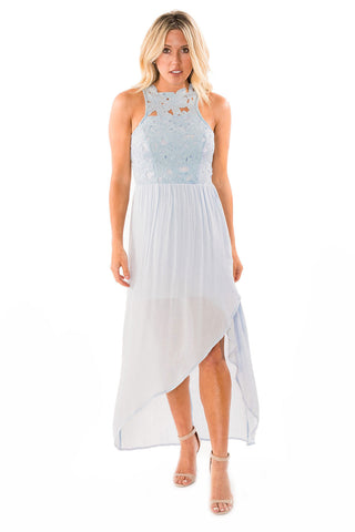 Crochet Bodice Maxi Dress