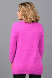 No Complaints Mohair Sweater-magenta