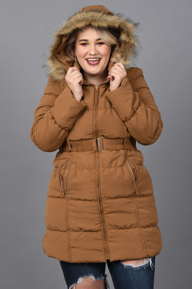 Keep Me Warm Puffer Jacket - Plus