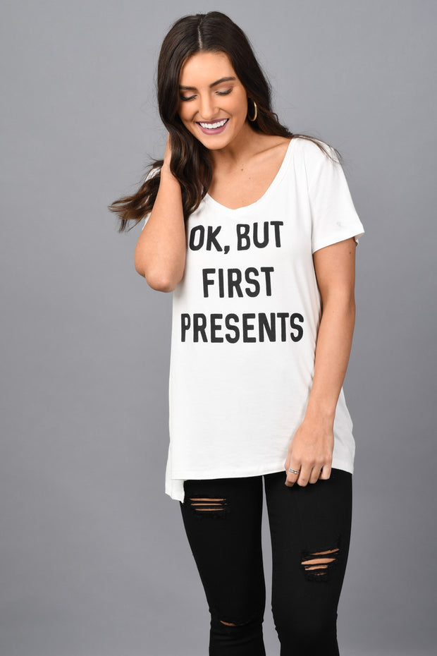 Ok But First Presents Graphic Tee