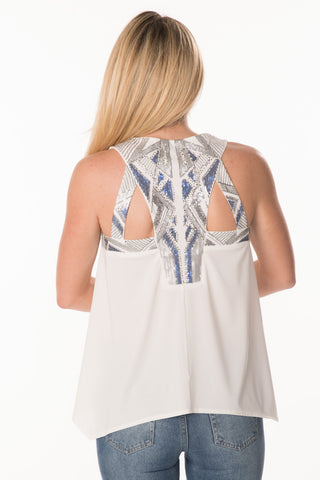 Embellished Back Tank