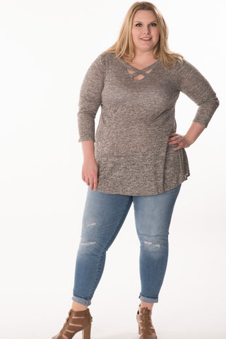 Criss Cross Tunic - Plus