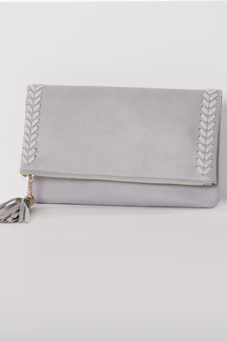 Braided Tassel Clutch
