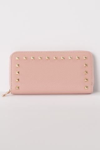 Pink Studded Wallet