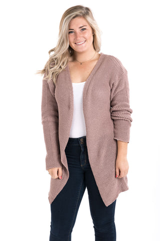 Lace-Up Back Cardigan Sweater