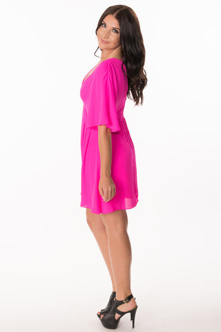 Hot Pink Flare Dress