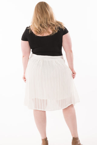 Textured Net Skirt - Plus