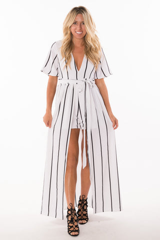 Striped Maxi Romper