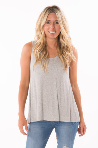 Ribbed Open-Back Tank