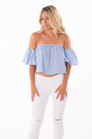 Off-Shoulder Striped Top