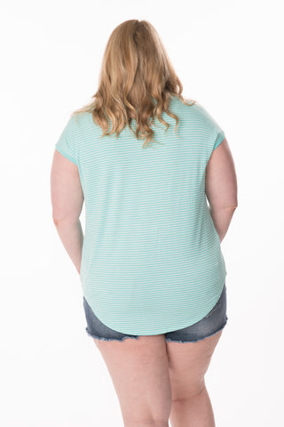Stripe Back Tee - Plus