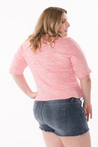 Pink Heather Top - Plus
