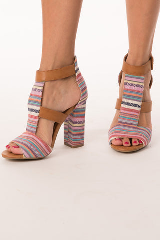 Multicolor Natural Sandal
