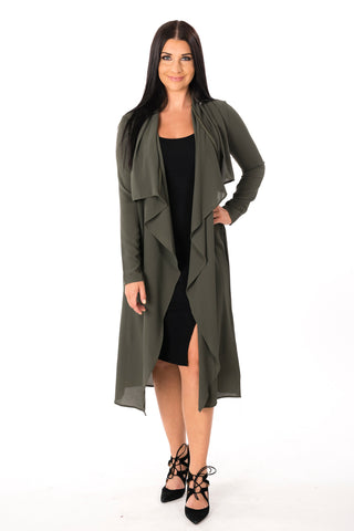 Waterfall Trench Jacket Cardigan