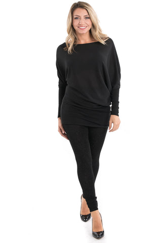 Off-Shoulder Ruched Tunic