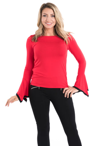 Bell Sleeve Modal Knit Top