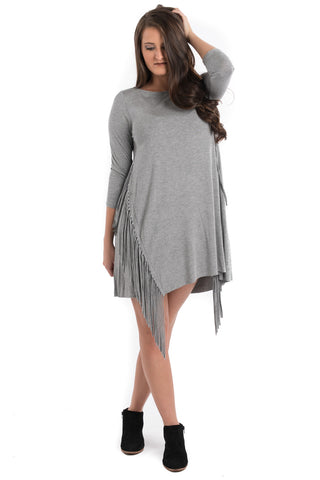 Side Fringe Tunic Dress