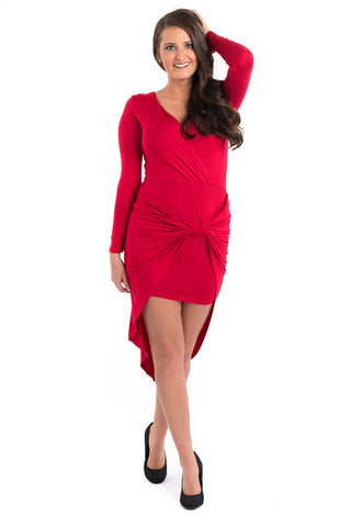 Side Draped Bodycon Dress