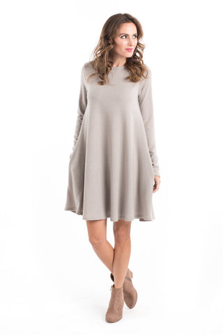 Two Tone Brushed Sweater Dress