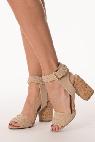 Braided Block Heel Sandal