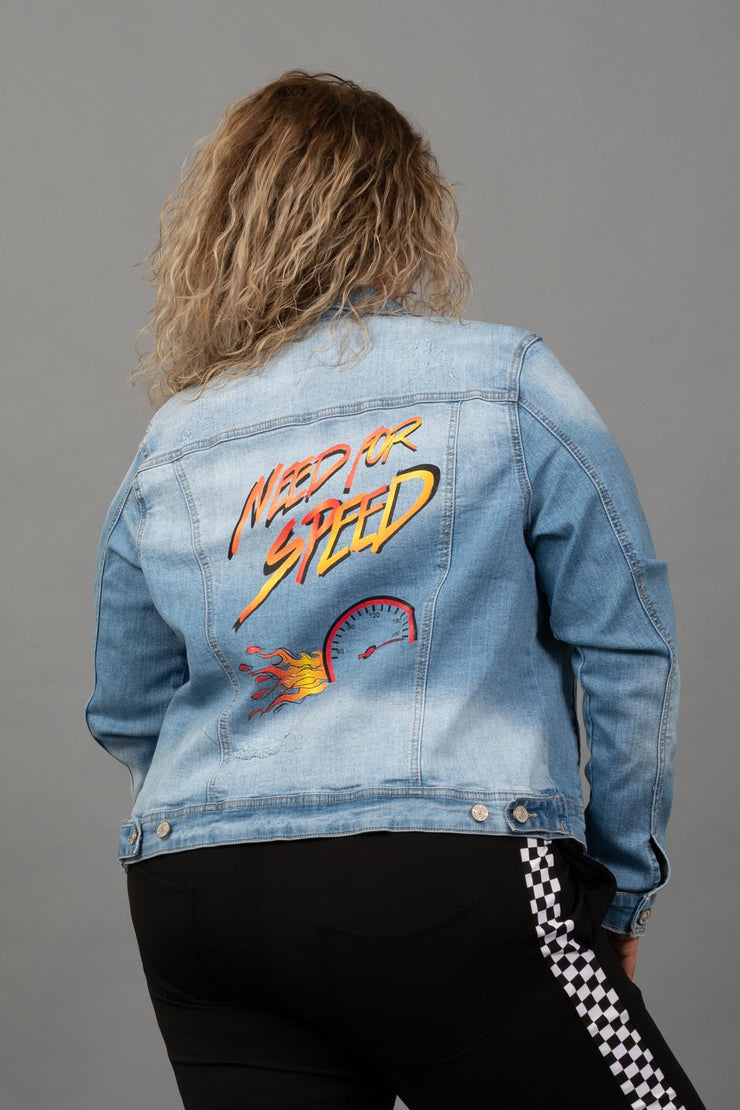 Need For Speed Denim Jacket - Curvy