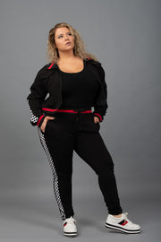On The Right Track Joggers - Curvy